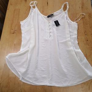 🆕Michel studio off-white spaghetti straps camisole Size 16 nwt